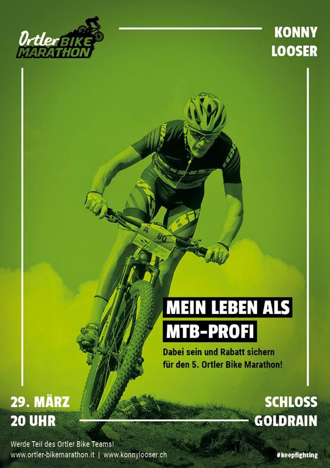 Vortrag im Rahmen der Präsentation des Ortler Bike Marathons.