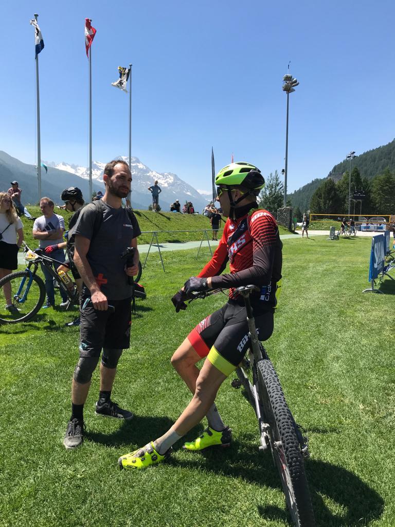 Rang 6 auf der 1. Etappe beim Engadin Bike Giro