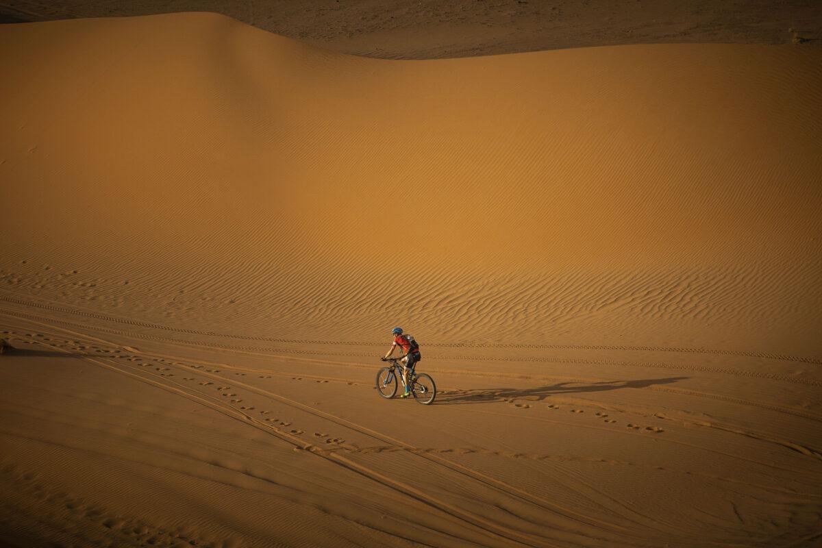 Katz & Maus in der Wüste! Leadertrikot gehalten.